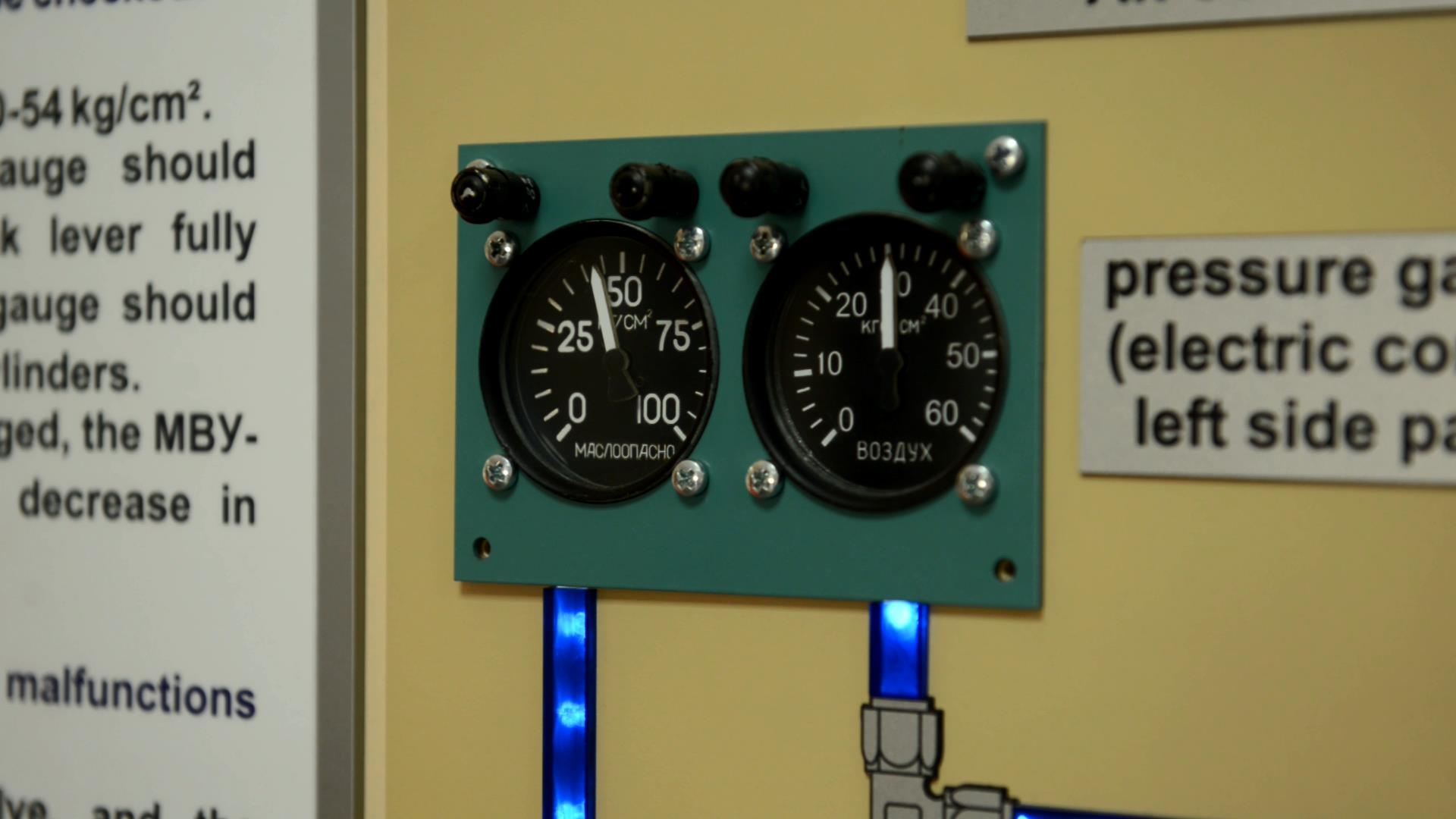 Стенды для изучения систем вертолета Ми-8