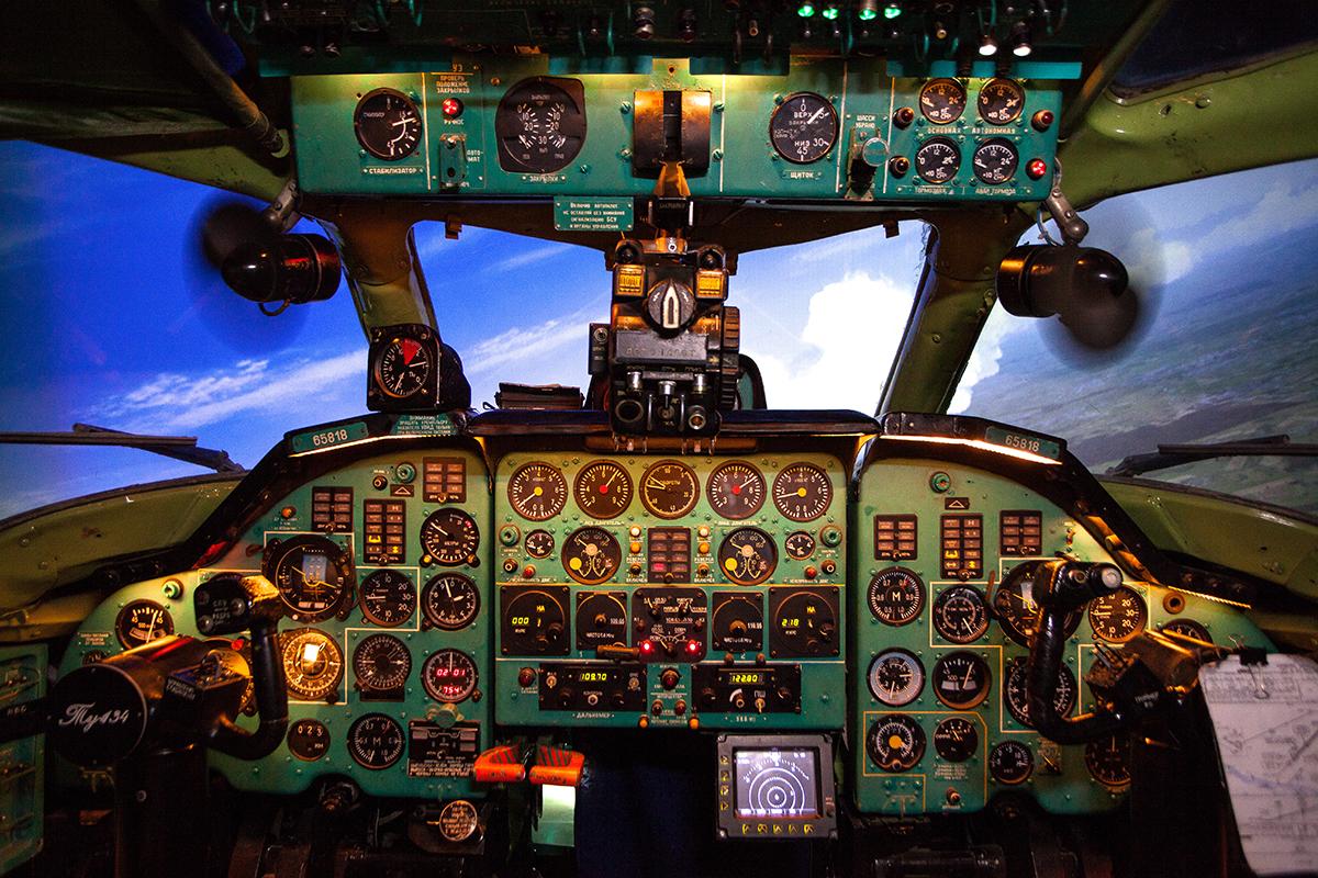 Tupolev Tu-134 passenger airplane simulator