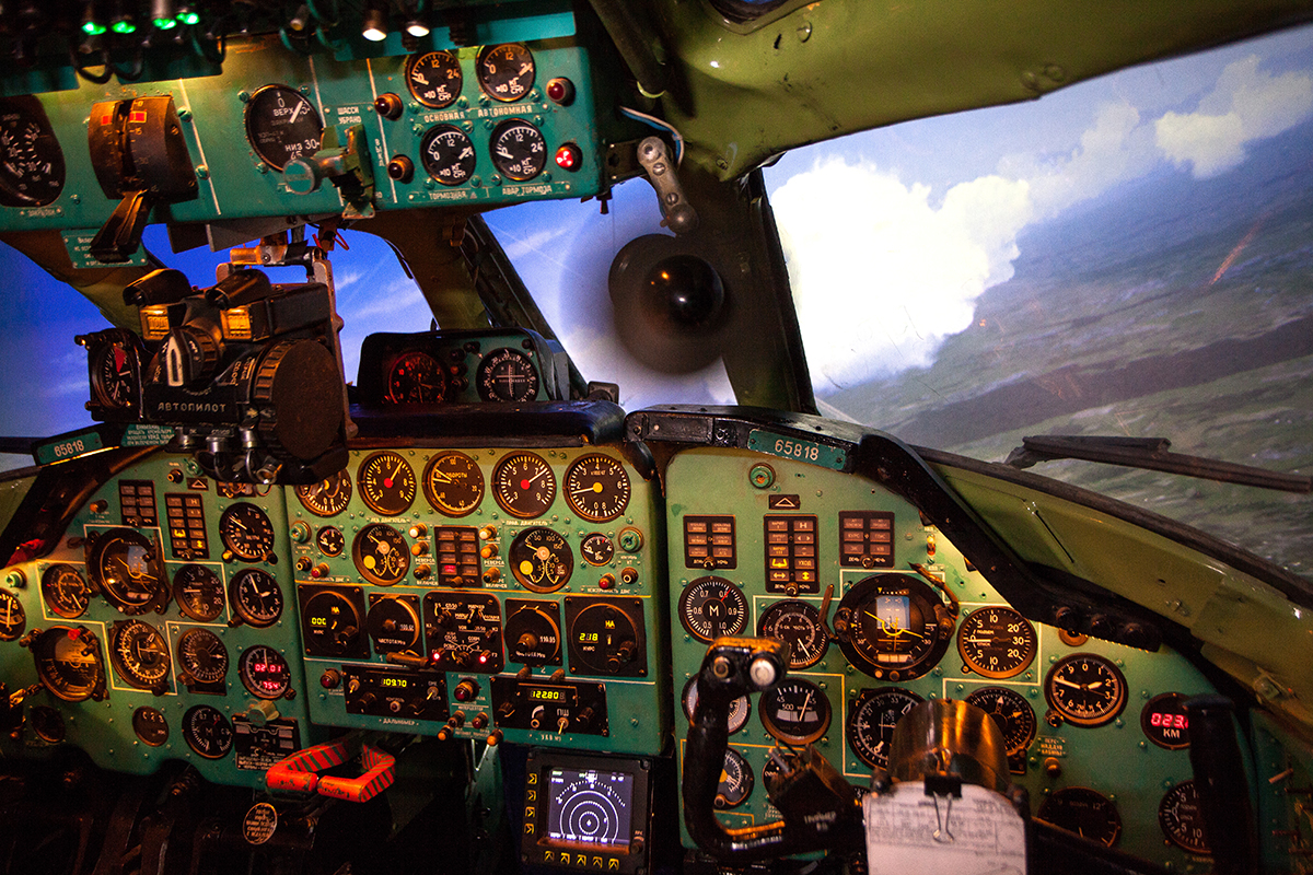 Tupolev Tu-134A flight and navigation trainer based on real airplane