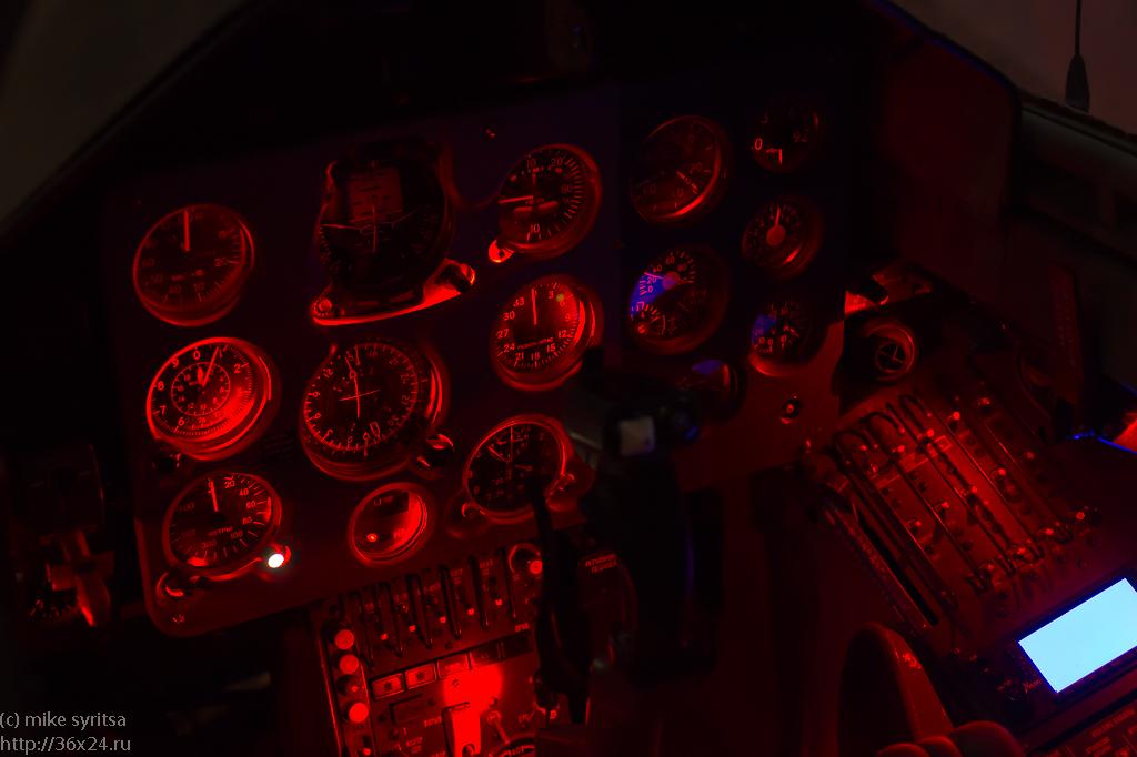 Instrumental panel of L-39 flight simulator