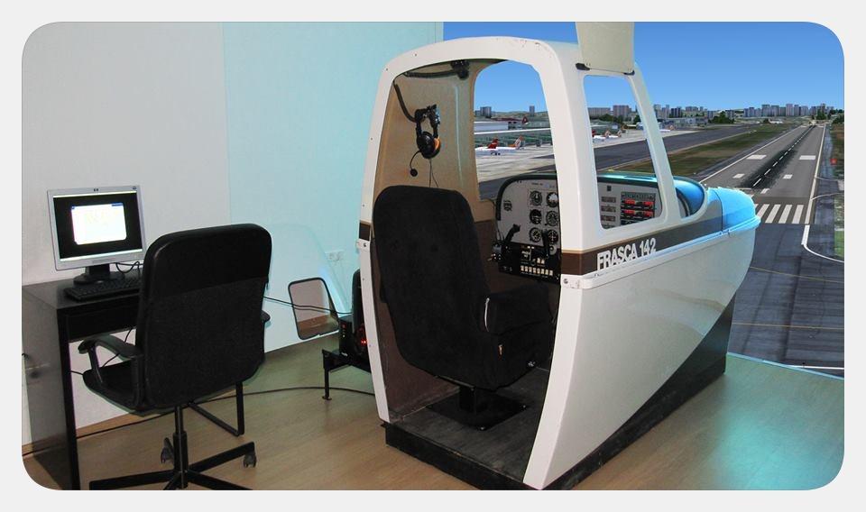 Piper Pa-34 flight simulator