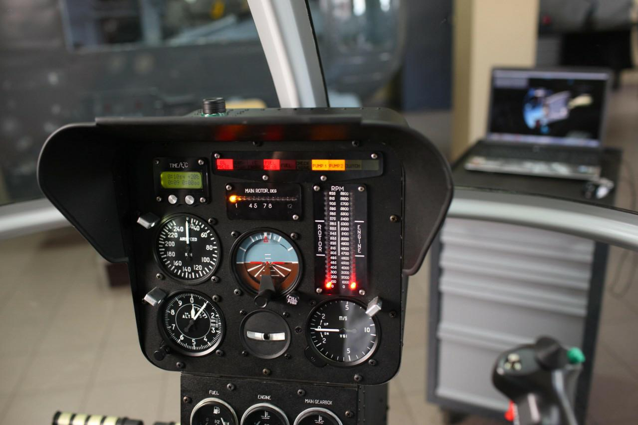 Instrumental panel of AK-1-3 helocopter procedure trainer
