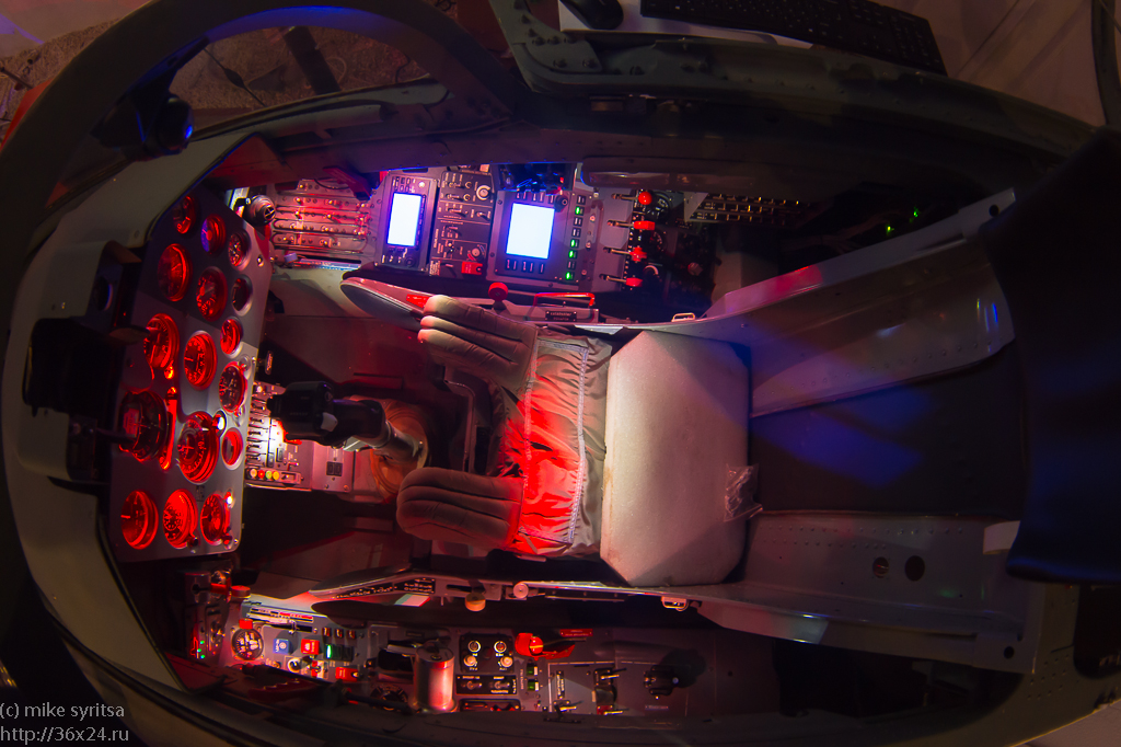 L-39 fighter simulator cockpit