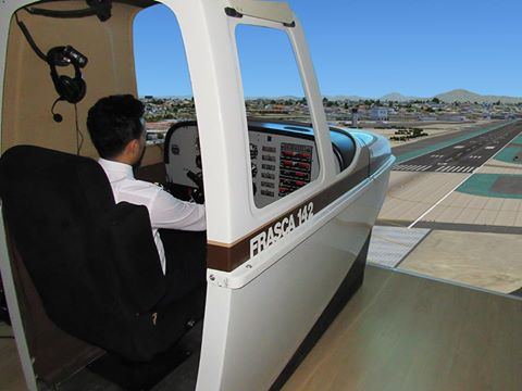 Piper Pa-34 aircraft simulator