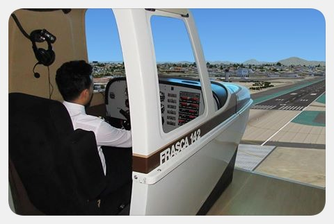Flight and navigation trainer of Piper PA-34 aircraft