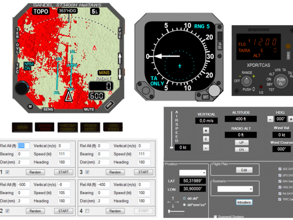 TCAS (CAS67A), HeliTAWS (ST3400H) training software